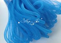 Skinny 8mm wide Tubular Crin polyester tube Millinery Hat Trim - blue 30 yard/lot