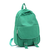 2012 spring and autumn fashion all-match women's handbag backpack candy color canvas bag 0981