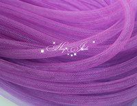 Skinny 8mm wide Tubular Crin polyester tube Millinery Hat Trim - purple  30 yard/lot
