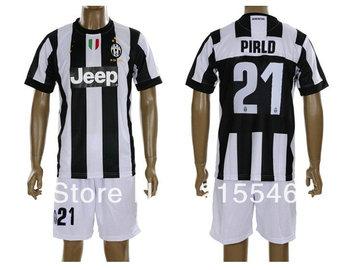 2012-2013 best quality Juventus home #21 PIRLO soccer uniforms kit, football shirt/jersey & shorts set/suit equipment