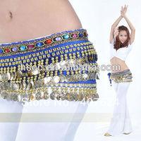 free shipping Velvet Gold Coins Belly Dance Hip Scarf  belly dance velvet hip scarf