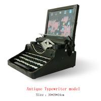 Antique craft antique typewriter model handmade craft home decoration bar coffee house display birthday gift