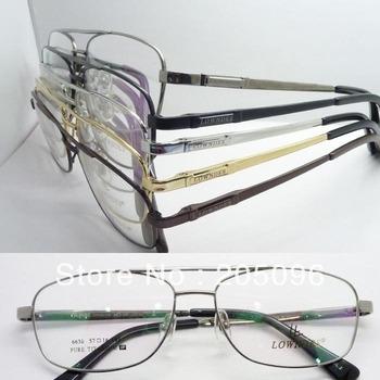 wholesales low price 6530 man pure titanium spring hinge side arm aviator full rim optical eyeglass frames free shipping