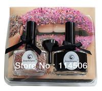 2013 New Colorful Caviar Nail Art Beads and rhinestones & Polish set