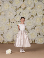Whole sale! scoop neckline lace sleeveless ruffle taffeta a-line beautiful flower girl dresses/gown ankle length Girls Dress