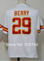 Free Shipping #29 Eric Berry Men's Game Football Jersey,Embroidery and Sewing Logos,Size S--3XL