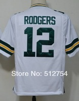 Free Shipping #12 Aaron Rodgers Men's Game Football Jersey,Embroidery and Sewing Logos,Size S--3XL