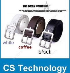 [C483] 2013 Free Shipping,Men&#39;s Belt ,Fashion Faux Leather Premium S Shape Metal Mens strap man Ceinture Buckle Belt men&#39;s belt(China (Mainland))