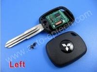 10pcs uncut left key blade mitsubishi 4D duplicable transponder keys for all 4D,mitsubishi blank complete transponder chip keys