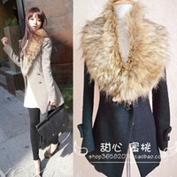 15 Colors Winter Women's Faux Fur Scarf Big Fur Collar False Collar for Women Ladies Free Shipping