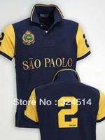 Wholesale 2013 Fashion  Men's Short Sleeve Polo Shirts 100% Cotton Big Horse Polo Shirt
