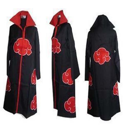cosplay anime naruto itachi uchiha cosplay costume discount akatsuki cloak halloween prom dresses discount(China (Mainland))