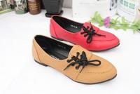 2014 Spring BALLETSTAR new arrival flat bottom shoe lacing leisure shoes flat comfortable