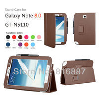 New Arrival Stand Folio Leather Cover Case For Samsung Galaxy Note 8.0 GT-N5110 Tab Free Shipping