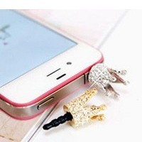 Free Shipping - wholesale plug Small crown  mobile phone dustproof plug