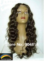 "UPS/DHL/EMS Free Shipping Wholesale Price Lace Front Wig 8~22"" DEEP WAVE 100% Indian REMY Hair have colour #1,#1B,#2,#4 in stock"