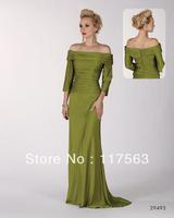 New Arrival Elegant Long Straight Off The Shoulder Floor Length Evening Dress WL039