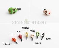 100PCS Random Color Cool Skull Anti Dust Earphone Jack Plug Stopper Cap For 3.5mm MP3 MP4 Mobile Phone