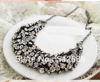 {Min.order $15}Wholesale 200pcs Rhinestones Handmade  fashion trend Short Necklace Party  Gift Free shipping