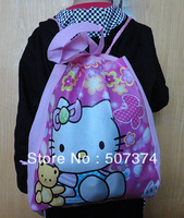 5PC Hello Kitty Handbag Non-woven bag Beach bag Schoolbag