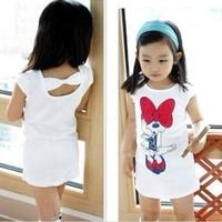 4 pcs/lot 2013 Children Kids Clothing Girls Minnie Dresses Summer Wear short Sleeve Best Selling AA5164