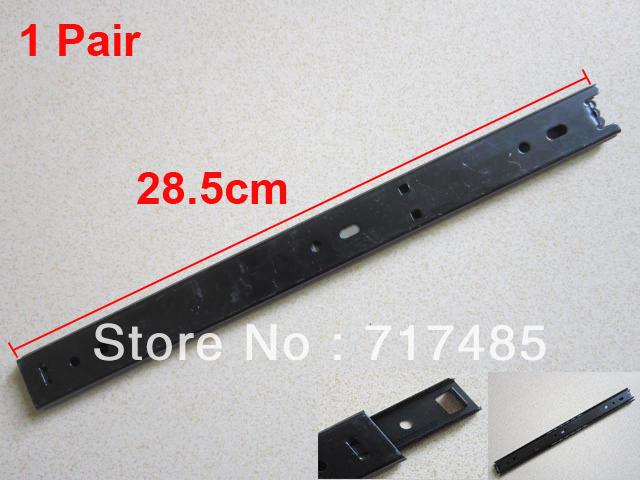 Black Ball Bearing Drawer Slides 2-fold 47cm Full Extension 1Pair(China (Mainland))