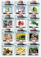 HD Pattern kitchen oil sticker 65*45cm the blue sky, landscape fruit food greaseproof paper heat-resistant wall stickers  sg-5