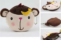 Kawaii 100PCS Banana Monkey Plush Coin Purses & Wallet BAG Pouch Case; Pendant Cosmetics Beauty Bags Beauty Case BAG Pouch