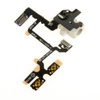 10PCS  Headphone phne Audio Jack Ribbon Volume Power Flex Cable Fit For iPhone 4G D0484