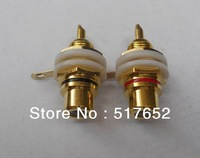 One Pair  gold-plated RCA power amplifier terminals free shipping