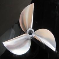"""Billet Machined 3 blades Alloy 7016 Prop Propeller For 6.35mm 1/4"""" Prop Shaft"""