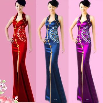 Cheongsam fashion toadyisms formal dress costume improved cheongsam dress summer long design vintage 1539