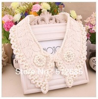 {Min.order $15}Wholesale Cotton Lace with Immitation Pearl fashion trend Collar Necklace Party  Gift Free shipping