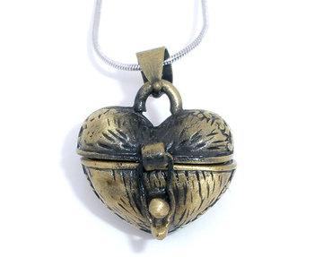 Fashion Jewelry 10 Bronze Color Love Heart Wish Boxes Pendants 23x18mm