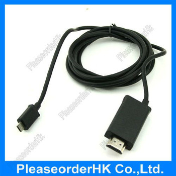 1.8M MHL to HDMI Cable Adapter USB MICRO for Smartphone to HDTV HD TV Free Shipping