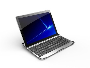 Free shipping Ultrathin Aluminium Wireless Bluetooth Keyboard for Samsung Galaxy Tab 2 10.1 inch P7500/P7510 tablet pc