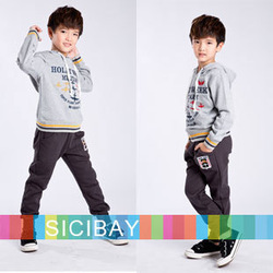 Leisure Wear Free Shipping Kids Spring Suits Boys Tracksuits Letter Printed Sports Wear K0352(China (Mainland))