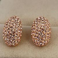 fashion elegant sparkling beetle champagne drop stud earring