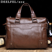 "Free shipping Hot sale Deelfel male shoulder bag messenger bag 13"" laptop bags handbag  casual  bags +Card package"
