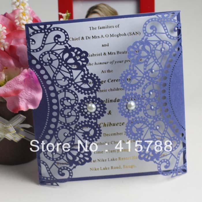 Royal Blue Wedding Invitation Templates Blue Royal Lase Cut Wedding