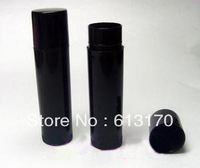 5g empty lipstick tube lip gloss bottle full black male lip balm container plastic diy bottle Free shipping