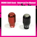 MOMO Shift Knob - Universal For Manual, Long Type, Black / Red