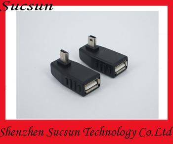 90 degree OTG mid  mini male to mini usb female converter adapter