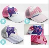Головной убор для девочек cotton Baby Hat newborn infant cap fashion solid color 10pcs/lot mixing colors