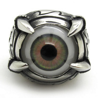 Factory Price Men's Gothic Monster Sharp Paw Beholder Eagle Eye Ring 316L Stainless Steel Fashion Design