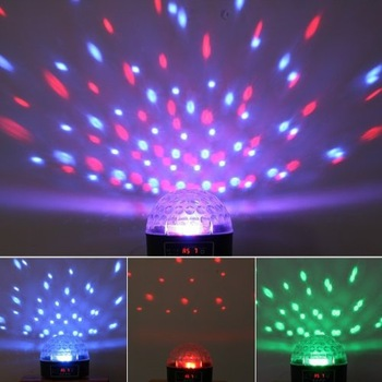 RGB Disco DJ Stage Lighting  LED Crystal Magic Ball Effect Light DMX512 control panel & voice control