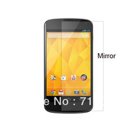 Free shipping 20pcs  for  LG E960 LG Nexus  4  Mirror screen protector guard film with retail package