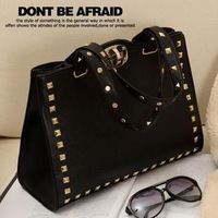 Fashion punk lockbutton 2013 rivet vintage shoulder bag messenger bag handbag women bags