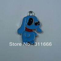Free shipping Dog 100 pcs/lot  zinc alloy enamel charms pendants h050