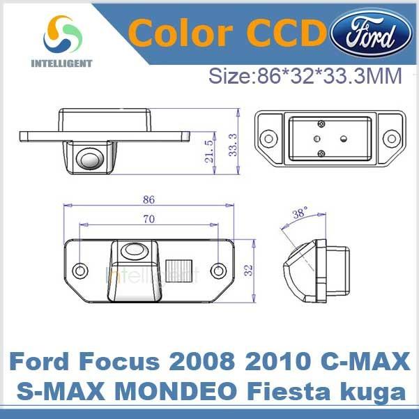 Car backup camera For Ford Focus 2008 2010 C-MAX S-MAX MONDEO Fiesta kuga HD CCD night vision car parking camera